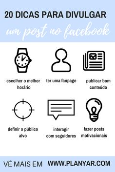 20 dicas super simples para usares o facebook a favor do teu blog!