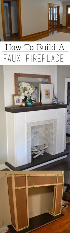 great resource for building a faux fireplace for those of us who don't have one!