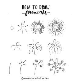 Love these firework doodles from @amandarachdoodles! Master Doodling with 20+ Inspirational Doodle Accounts