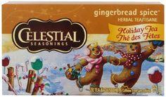 Celestial Seasonings Gingerbread Spice Herbal Holiday Tea Bags, 20 ct - http://teacoffeestore.com/celestial-seasonings-gingerbread-spice-herbal-holiday-tea-bags-20-ct/