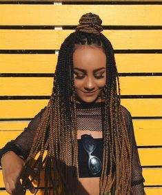 Small/medium size box braids- protective style and perfect for .-Super Collection of 110 Box Braids You Shouldn't Miss Medium Box Braids, Short Box Braids, Blonde Box Braids, Jumbo Box Braids, Ombre Box Braids, Black Box Braids, Small Braids, Medium Curly, Medium Long