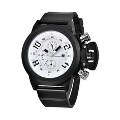 Men Sport Watch Multiple Display Army Date Rubber watches