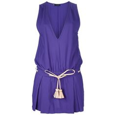 DSQUARED2 sleeveless dress (€555) ❤ liked on Polyvore featuring dresses, vestidos, robes, purple, no sleeve dress, short mini dresses, purple mini skirt, short mini skirts and purple cocktail dress
