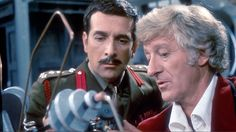 Brigadier Lethbridge-Stewart with the Third Doctor in 'Terror of the Autons'.