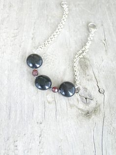 Free shipping Casual bracelet with black obsidian by gembracelet, $20.00