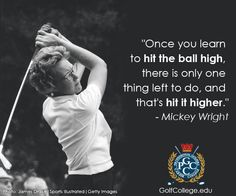 Today in 1960 Mickey Wright won the LPGA Grossinger Golf Open; also on this day in 1961 Wright won the LPGA Spokane Women's Golf Open. The legendary Wright won a total 82 LPGA Tour wins, including 11 major championships. Swing Quotes, Golf Quotes, City Golf, Lpga Tour, Career College, Golf Tour, Golf Instruction, Golf Humor, Funny Cartoons