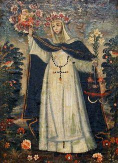 Santa rosa de lima pray for peru catholic saints for St rose of lima coloring page
