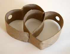 (Variation of hearts you can use for the Valentine's necklace. - (Variation of hearts you can use for the Valentine's necklace. Tissue Roll Crafts, Toilet Paper Roll Diy, Toilet Roll Art, Paper Towel Roll Crafts, Paper Towel Rolls, Toilet Paper Roll Crafts, Paper Plate Crafts, Cardboard Rolls, Cardboard Crafts