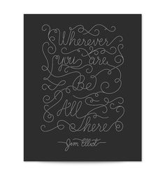 Jim Elliot Quote Hand Lettered Typography Art by HandLetteringCo