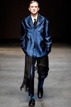 E. Tautz | Fall 2014 Menswear Collection | Style.com ^~^ good pair....satin n fringe!