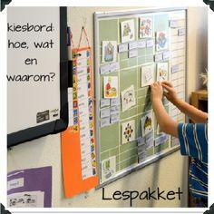In een klas is een kiesbord niet weg te denken. Laat leerlingen zelf keuzes maken, dit zorgt ervoor dat ze autonomer kunnen werken.