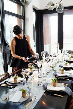 How to Style a Table Like Athena Calderone via @MyDomaine
