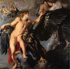 Peter Paul Rubens Paintings-Ganymede et L' Aigle, 1612