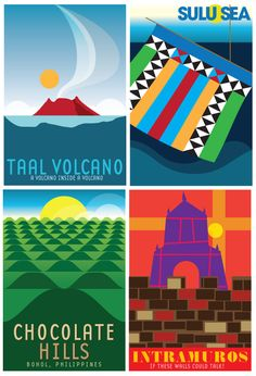 Team Manila's Philippine Tourism Posters. Philippines Tourism, Visit Philippines, Manila Philippines, Philippines Culture, Filipino Art, Filipino Culture, Philippine Holidays, Philippine Art, Tourism Poster