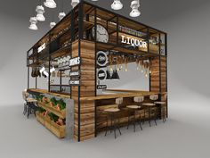 Food cart design, cafe bar, cafe shop, container coffee shop, industrial co Cafe Shop Design, Kiosk Design, Booth Design, Retail Design, Store Design, Food Stall Design, Container Coffee Shop, Juice Bar Design, Mall Kiosk