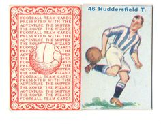 FOOTBALL PICTURE CARD 46. ISSUED BY  DC THOMPSON SHOWING HUDDERSFIELD TOWN c1934 ie.picclick.com