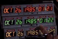 The date to which Michael J. Fox's Marty McFly and Christopher Lloyd's Doc Brown time-travel in the 1989 film 'Back to the Future II' is upon us. Marty Mcfly, Doc Brown, Phillipe Petit, Film Mythique, Future Days, Non Plus Ultra, Bttf, Lydia Martin, The Doctor