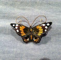 David Andersen Vintage Norway Sterling Silver Rare Enamel Butterfly Pin | eBay