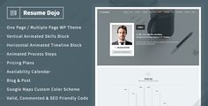 ResumeDojo – Resume & Portfolio WordPress Theme