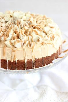 White Chocolate Peanut Butter Blondie Cheesecake