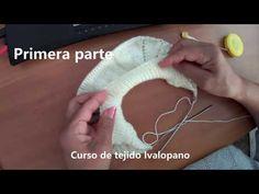 Cómo tejer batita empezada por el cuello con cuello volcado. - YouTube Baby Knitting Patterns, Boho, Videos, Stitch, Youtube, Baby Dresses, Knits, Baby Sweaters, How To Knit