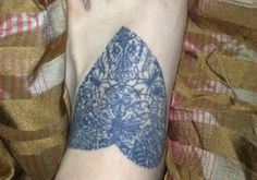 Nice Lace Heart Tattoos for Women