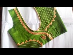 easy blouse neck desiign with Anchor thread cutting and stitching Patch Work Blouse Designs, Simple Blouse Designs, Stylish Blouse Design, Saree Blouse Neck Designs, Chudidhar Neck Designs, Sleeve Designs, Designer Blouse Patterns, Blouses, Indian Blouse