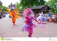 ORLANDO - MAY 2014: Fish Characters from the Festival of Fantasy Parade at the Magic Kingdom, Walt Disney World. Picture taken 28th May 2014 Orlando FL