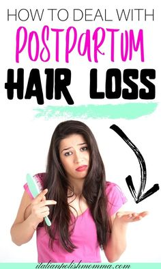 How to deal with postpartum hair loss! Are you suffering from terrible postpartum hair loss? Don't freak out mama, this is totally normal and I'm here to show you how you can treat and help prevent postpartum hair loss and get your life back to normal! Postpartum Hair Loss, Postpartum Recovery, C Section Workout, Get Your Life, Morning Sickness, What Can I Do, Baby Hacks, Stretch Marks, Pregnancy Tips