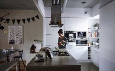 An integrated kitchen and living area makes for easy and fluid family life