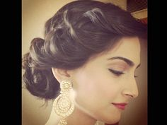 Sonam Kapoor with a delicate hair style - perfect for a soft but stunning look for your weddding day!