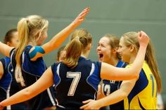 Team Latvia scores at the qualifier for the 2014 CEV U19 Volleyball European Championship - Women