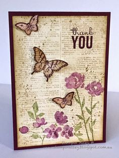 Painted petals ; Dictionary ; Gorgeous grunge ; Papillon potpourri ; Elegant butterfly punch ; Thank you