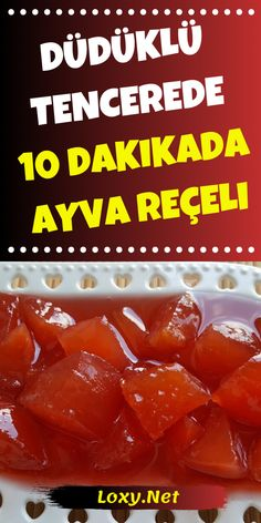Today we are with one of the quick recipes. In 10 minutes . 10 dakikada ayva reçeli yap Today we are with one of the quick recipes. Make quince jam in 10 minutes - Fruit Recipes, Cookie Recipes, Dessert Recipes, Instant Recipes, Quick Recipes, Turkish Sweets, Best Oatmeal, Steak And Eggs, Breakfast Items