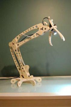 Cool Shop-Made Wood Desk Lamp