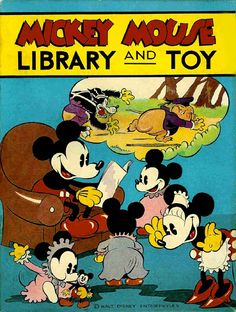1930s Mickey Mouse Library and Toy
