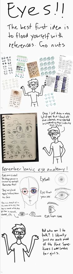 For the person who asked for a cartoon eye tutorial. This is mostly just tips, seriously just find so many other people's references. Comment for more tutorials, I'm free at the moment