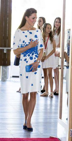 Who: Catherine, Duchess of Cambridge - Wore: L.K. Bennett - Where: The Royal Australian Airforce Base at Amberley in Brisbane, Australia via StyleList