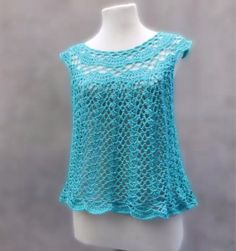 How To Crochet This Beautiful Blouse - Tutorial - ilove-crochet