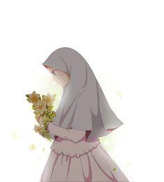 Muslim Images, Anime Best Friends, Art Drawings Sketches Simple, Cute Kawaii Girl, Hijab Drawing, Anime Scenery Wallpaper, Islamic Cartoon, Anime Muslim, Hijab Cartoon