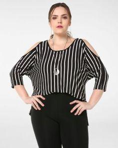 899ee1fae Blusa Ombro - Plus Size Casual - Paraíso Feminino