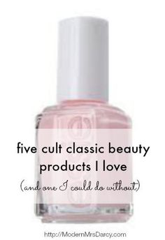 How does a beauty product become a cult classic? Only a few products inspire that kind of devotion. These tried-and-true staples are loved for their great performance and timeless appeal. (Even if I could personally do without the last one.)   Essie nail polish in Mademoiselle Essie descri