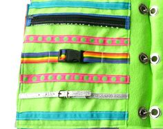 Zipper, Clip, and Buckle Quiet Book Page