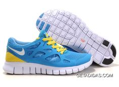 hot sale online 47813 01790 Nike Free Run 2 Blue Yellow White TopDeals 777806, Price   59.47 - Adidas  Shoes,Adidas Nmd,Superstar,Originals
