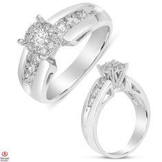 Etsy NissoniJewelry presents - Ladies Diamond Engagement Ring in 14K White Gold with 0.81CT Diamonds    Model Number:UB5181W    https://www.etsy.com/ru/listing/289122629/ladies-diamond-engagement-ring-in-14k
