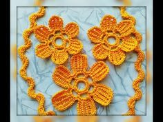 Уроки вязания - Цветок крючком - Ирландское кружево - Flower for Irish l...