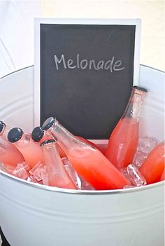 This light and refreshing drink tastes like a cross between a smoothie and a lemonade. Use very ripe melon. Perfect for summer! Refreshing Drinks, Summer Drinks, Fun Drinks, Beverages, Summer Fruit, Partys, Non Alcoholic, Fresh Fruit, Smoothies