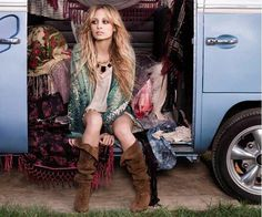 BOHO Chic love the outfit with the green cardi