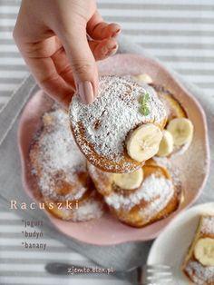 Racuszki budyniowe z bananami Easy Cooking, Cooking Recipes, My Favorite Food, Favorite Recipes, Good Food, Yummy Food, Polish Recipes, Dessert Drinks, No Bake Cake