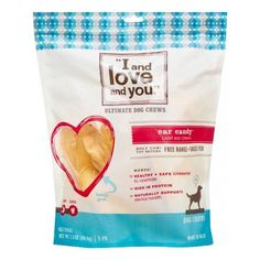 I and love and you Dog Chews, Cow Ears, Ear Candy, Multicolor